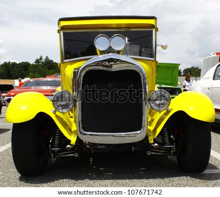 GLOUCESTER, VA- JULY 14:A blown 1929 Ford Truck at the Annual Blast from the past car show at the Main St shopping center in Gloucester, Virginia on July 14, 2012. - stock photo