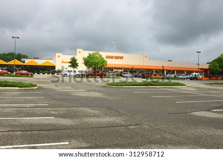 GLOUCESTER, VA - JULY 04 2015: The Home Depot is an American retailer of home improvement and construction products and services. The Home Depot was founded in 1978  - stock photo