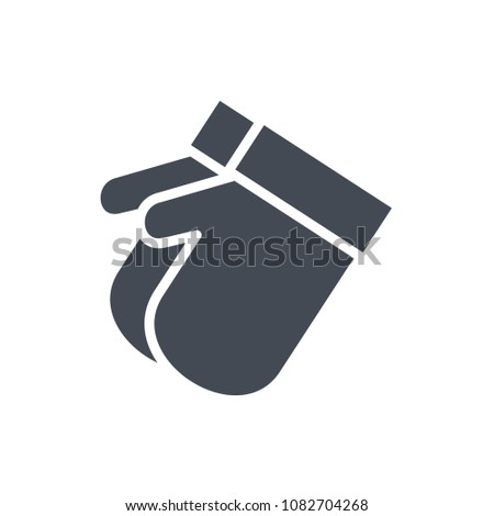 gloves silhouette christmas holidays raster illustration stock