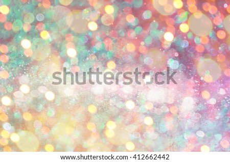 Glow glitter background. Elegant abstract background with bokeh  - stock photo