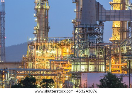 Glow light of petrochemical industry. - stock photo