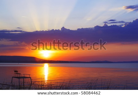 Glow of sunset - stock photo