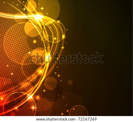 glowing abstract background, raster illustration - stock photo