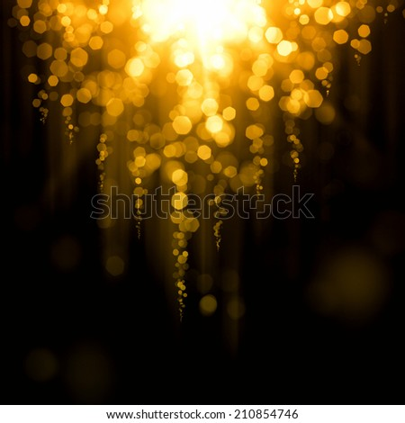 Glowing abstract golden background  - stock photo
