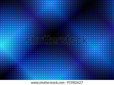 Glowing Blue Abstract Party Background - stock photo