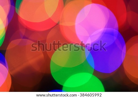 Glowing defocused lights pattern.