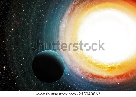 Glowing galaxy in outer space. - stock photo
