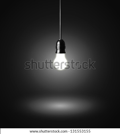 Hanging Pictures On Wire glowing hanging light bulb on wire stock photo 131553155
