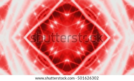 Glowing lights on red background