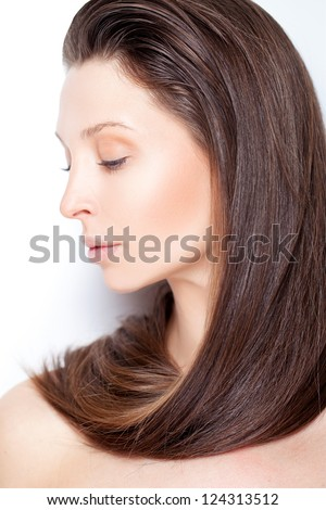 Glowing portrait - stock photo