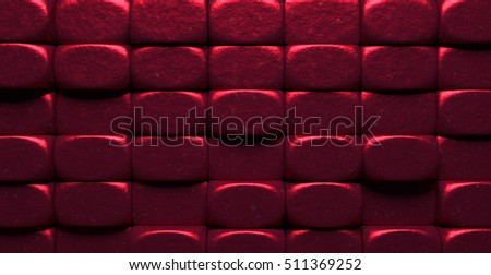 Glowing Red Metal Blocks Background