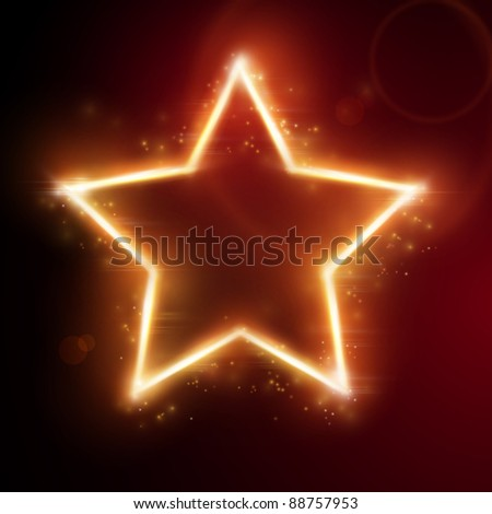 Glowing star frame with space for your text. - stock photo