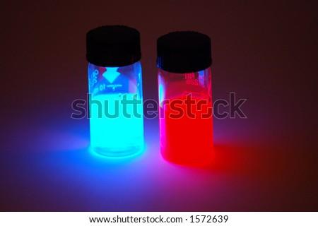 Glowing Vials - stock photo