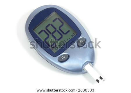 Glucose blood test - really high results - stock photo