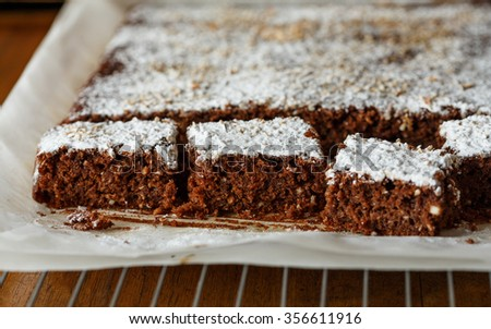 Gluten free chocolate cake - stock photo