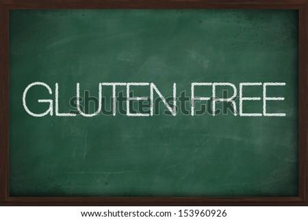 Gluten free diet concept -  handwritten with white chalk on a blackboard - stock photo