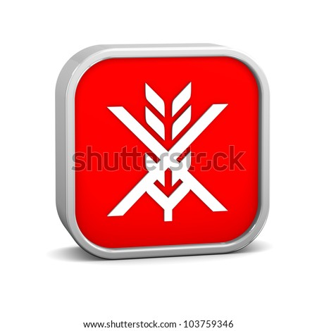 Gluten free sign on a white background. Part of a series. - stock photo