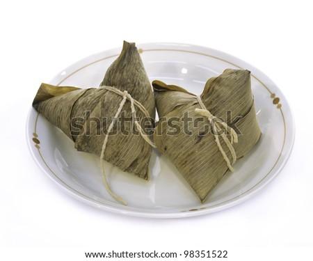 Glutinous rice dumpling - stock photo