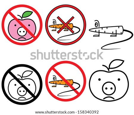 GMO free signs set - stock photo