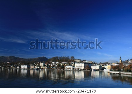 gmunden, austria - vacation curort, recreation, lake, alps