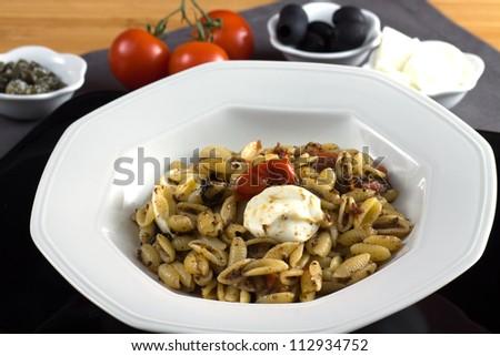 Italian Cake With Grapes Sardinian