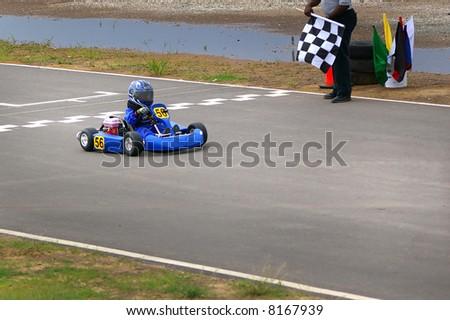 go-cart racer - stock photo