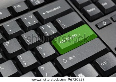 Go go go button - stock photo