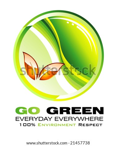 Go green and recycle concept background - stock photo