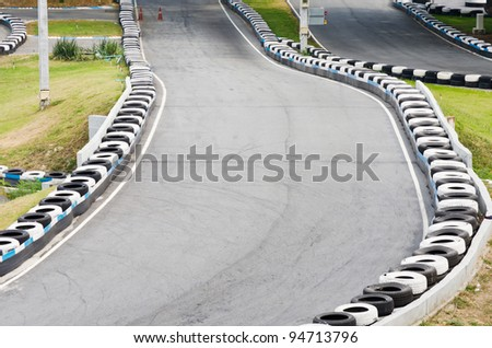 Go Kart Race Track. - stock photo