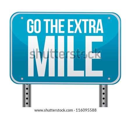 go the extra mile illustration design over white