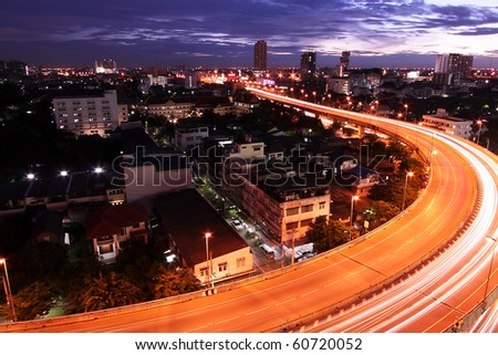 Go Through The City Of Bangkok, Bangkok-Thailand - stock photo