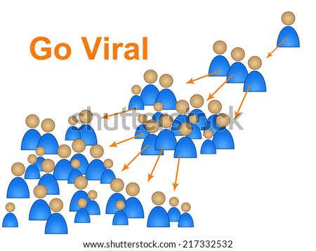 Go Viral Showing Social Media Marketing And Networking - stock photo