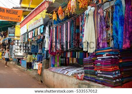 goaindia   november 122016 shops on the arambol beach  goaindia november 122016 shops on arambol stock photo 533557012      rh   shutterstock