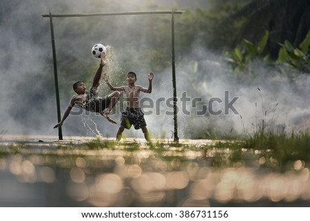 Goal boy - stock photo