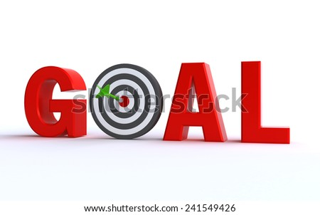 goal concept - stock photo