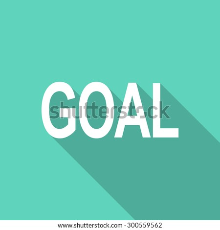 goal flat design modern icon with long shadow for web and mobile app