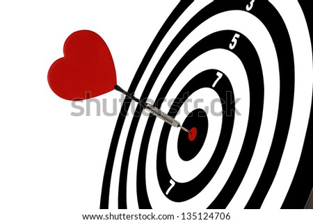 Goal, go to success with heart - stock photo