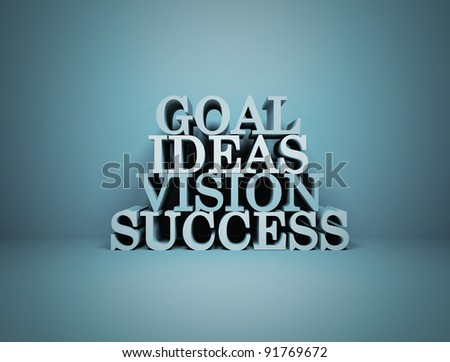 Goal Ideas Vision Success - stock photo
