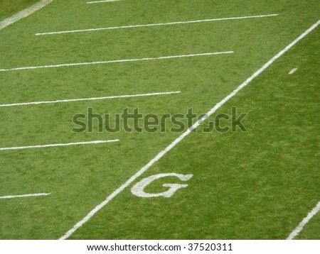 Goal line football field texture - stock photo