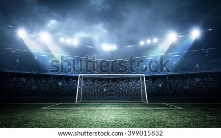 Goal post - stock photo