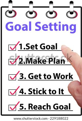 Goal setting - stock photo