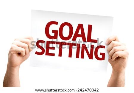Goal Setting card isolated on white background - stock photo