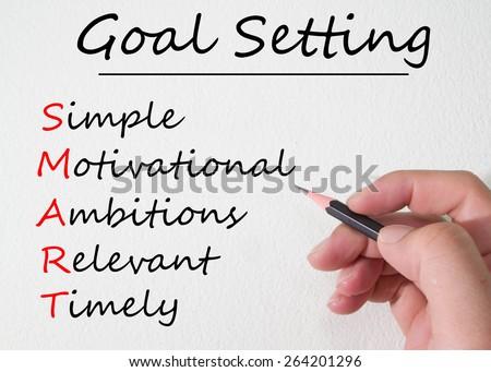 goal setting concept - stock photo