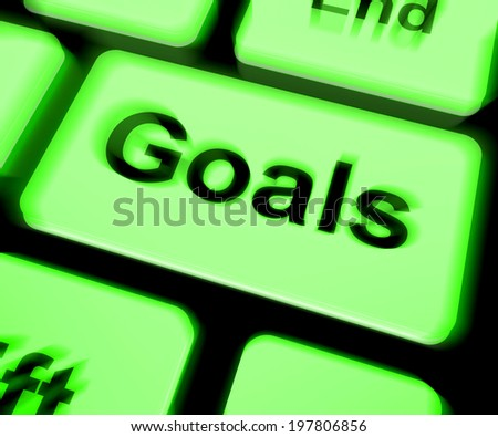 Goals Keyboard Showing Aims Objectives Or Aspirations