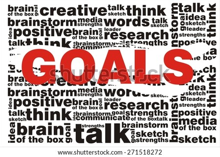 GOALS word on collage words background
