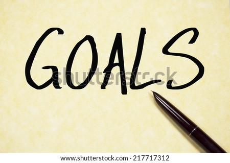 goals word write on paper - stock photo