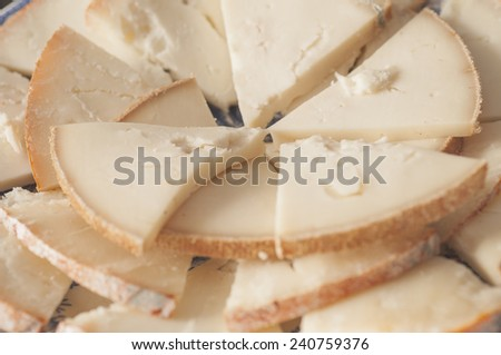 Goat cheese dish typical of Extremadura - stock photo