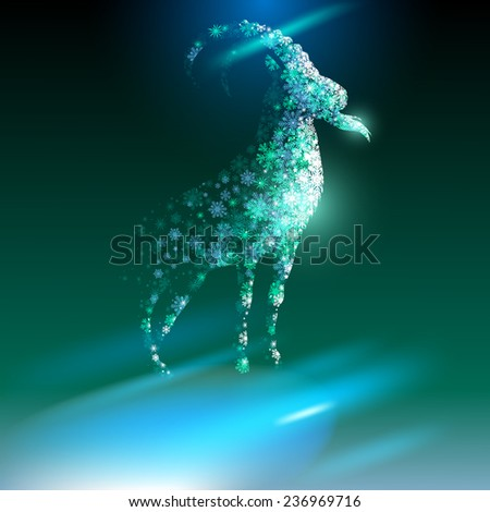 Goat. Happy new year 2015.  - stock photo