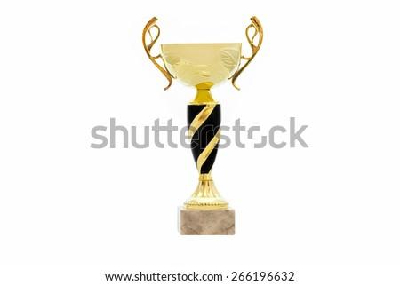 goblet isolated on white background - stock photo