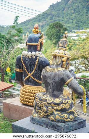God of Death (Hades of Thailand)  Wat Kao Rang - stock photo